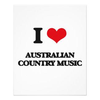 Eu amo a MÚSICA COUNTRY AUSTRALIANA Modelos De Panfleto