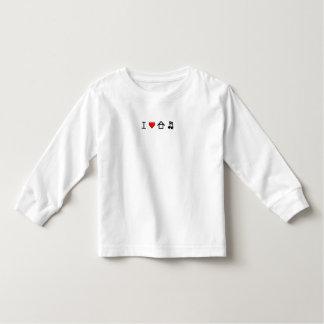 Eu amo a música da casa - criança da camisa de T