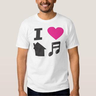 Eu amo a música da casa tshirt