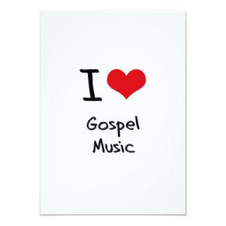 Eu amo a música de evangelho convite personalizados