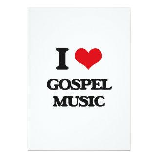 Eu amo a música de evangelho convite 12.7 x 17.78cm