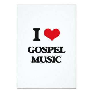 Eu amo a música de evangelho convite 8.89 x 12.7cm