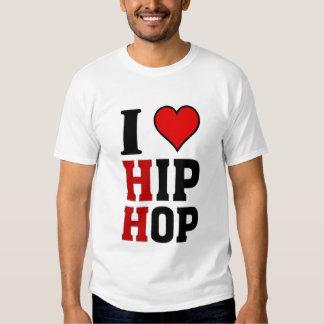 Eu amo a música de Hip Hop Tshirts