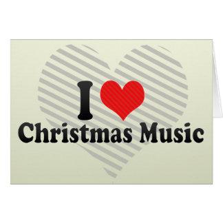 Eu amo a música do Natal Cartoes
