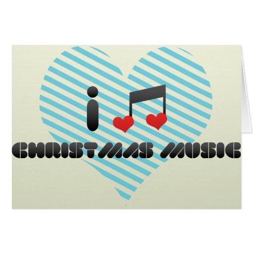 Eu amo a música do Natal Cartao