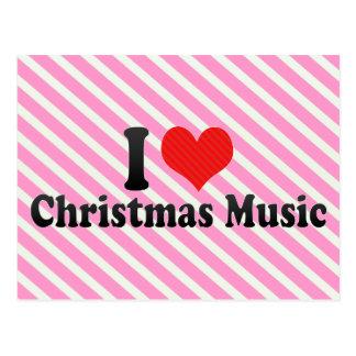 Eu amo a música do Natal Cartoes Postais