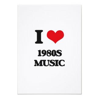 Eu amo a MÚSICA dos anos 80 Convite Personalizado