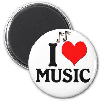 Eu amo a música ima de geladeira