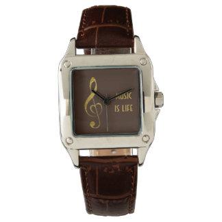 Eu amo a música - jóia relógio de pulso