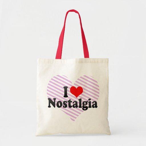 Eu amo a nostalgia bolsas para compras