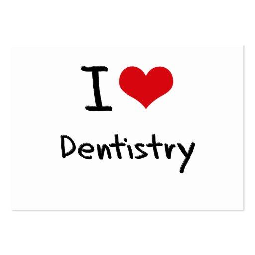Eu amo a odontologia cartoes de visita