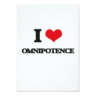 Eu amo a omnipotência convite 12.7 x 17.78cm