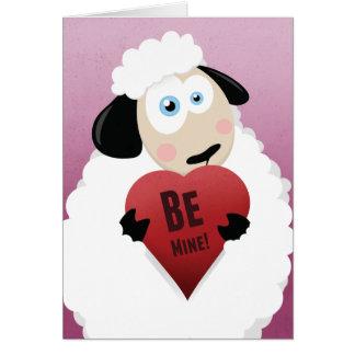 Eu amo a ovelha seja meu cartão dos namorados de |