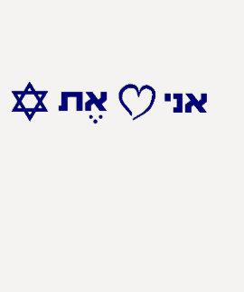 Eu amo a parte superior de Israel T-shirt