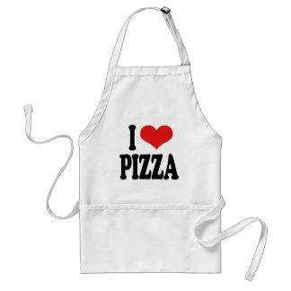 Eu amo a pizza avental