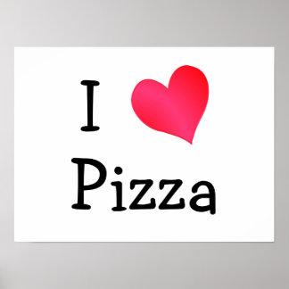 Eu amo a pizza poster