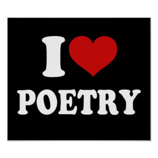Eu amo a poesia poster
