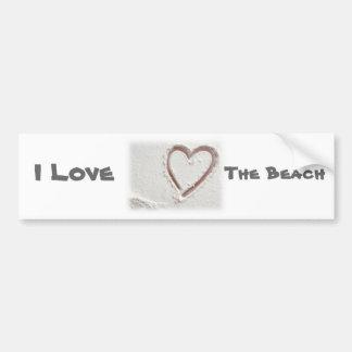 Eu amo a praia adesivo para carro