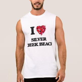 Eu amo a praia de prata Wisconsin da angra Camiseta Sem Manga