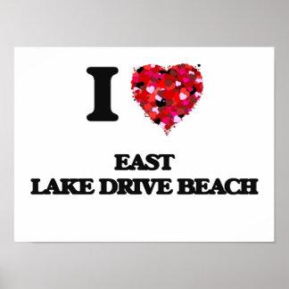 Eu amo a praia do leste New York da movimentação Poster