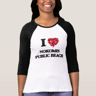 Eu amo a praia pública Florida de Nokomis Camiseta