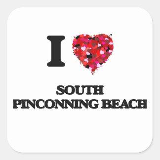 Eu amo a praia sul Michigan de Pinconning Adesivo Quadrado