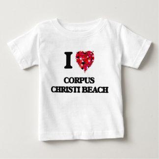 Eu amo a praia Texas de Corpus Christi Tshirts