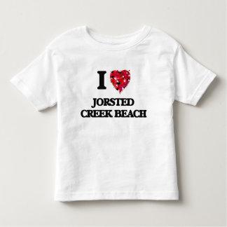 Eu amo a praia Washington da angra de Jorsted Tshirt