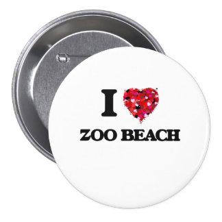 Eu amo a praia Wisconsin do jardim zoológico Bóton Redondo 7.62cm