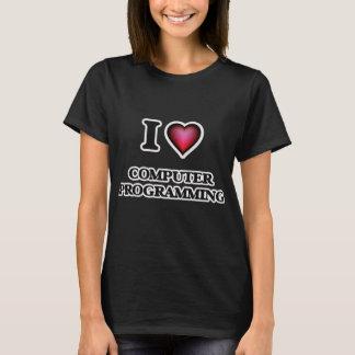 Eu amo a programação informática camiseta