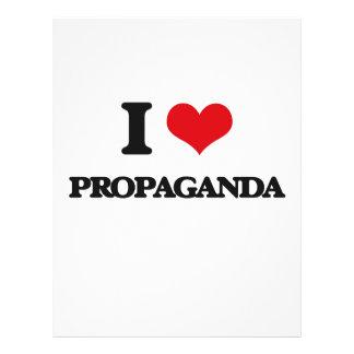 Eu amo a propaganda panfletos personalizado