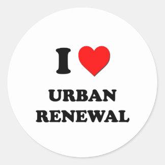 Eu amo a reabilitação urbana adesivo