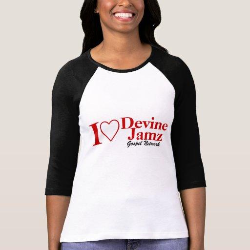 Eu amo a rede do evangelho de Devine Jamz T-shirt