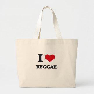 Eu amo a reggae bolsa para compras