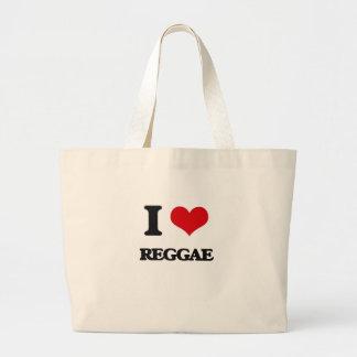 Eu amo a REGGAE Bolsas De Lona