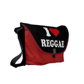 Eu amo a reggae bolsa mensageiro
