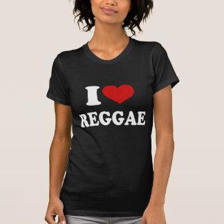 Eu amo a reggae camiseta