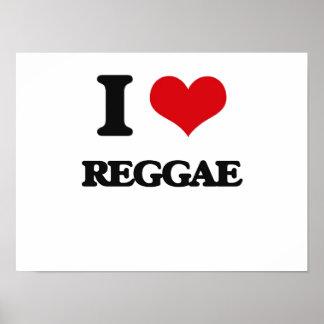 Eu amo a reggae posteres