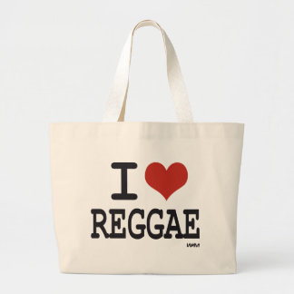 Eu amo a reggae sacola tote jumbo
