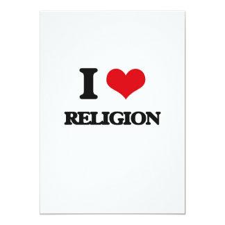 Eu amo a religião convite personalizado
