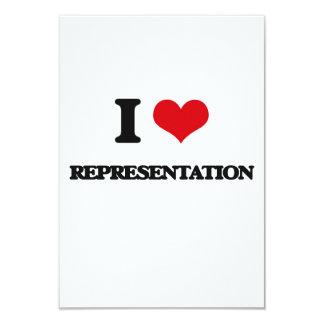 Eu amo a representação convite personalizados