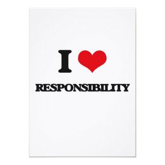 Eu amo a responsabilidade convite