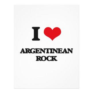 Eu amo a ROCHA ARGENTINA Panfleto Personalizado