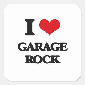 Eu amo a ROCHA da GARAGEM Adesivo Quadrado