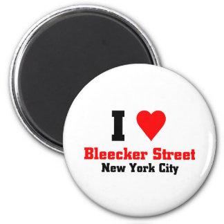 Eu amo a rua de Bleecker, NY Ímã Redondo 5.08cm