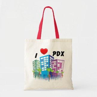 EU AMO a sacola de PDX Bolsa Tote