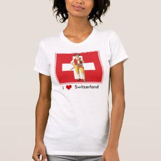 Eu amo a suiça - t-shirt colorido do suíço de
