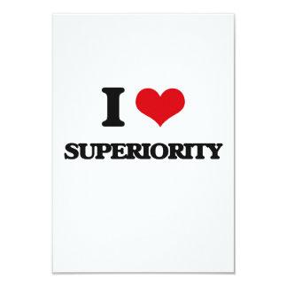 Eu amo a superioridade convite 8.89 x 12.7cm