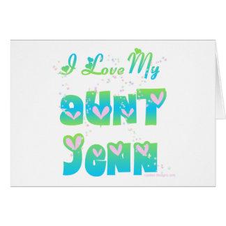 Eu amo a tia Jenn Cartões