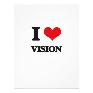 Eu amo a visão flyer 21.59 x 27.94cm